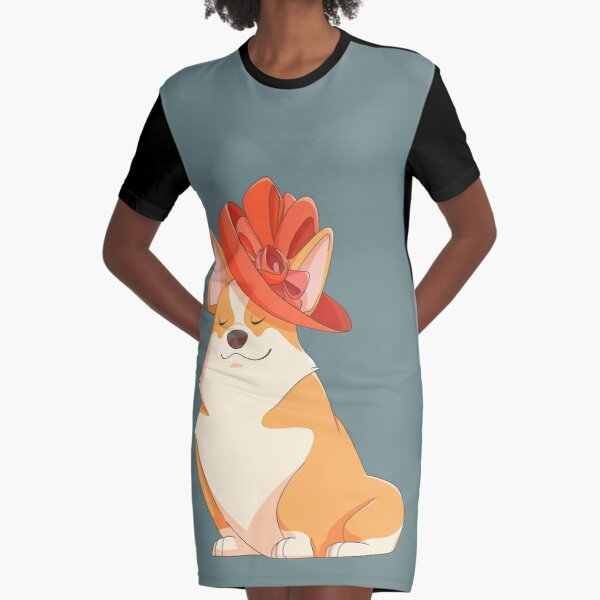 Queen Corgi Graphic T-Shirt Dress