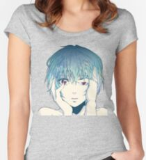 Camiseta entallada de cuello redondo Rei Ayanami Neon Genesis Evangelion