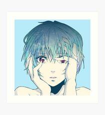 Rei Ayanami Neon Genesis Evangelion Art Print