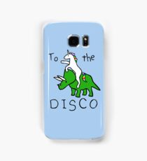 To The Disco (Unicorn Riding Triceratops) Samsung Galaxy Case/Skin