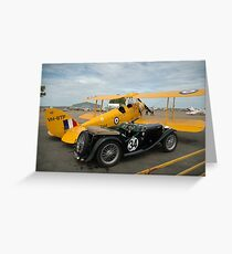 Two Classic Vehicles, Cunderdin Airshow, Australia 2005 Greeting Card