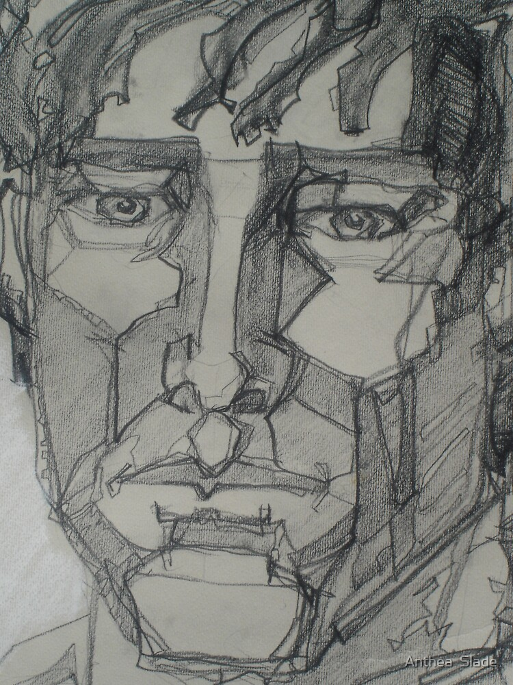 Cubist Face by Anthea  Slade