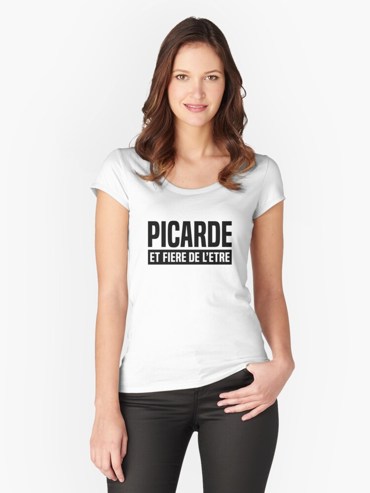 Picarde and proud of it Women's Fitted Scoop T-Shirt Front