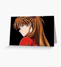 Asuka Langley Neon Genesis Evangelion Greeting Card