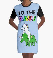 Zum Rave! (Einhorn Reit Triceratops) T-Shirt Kleid