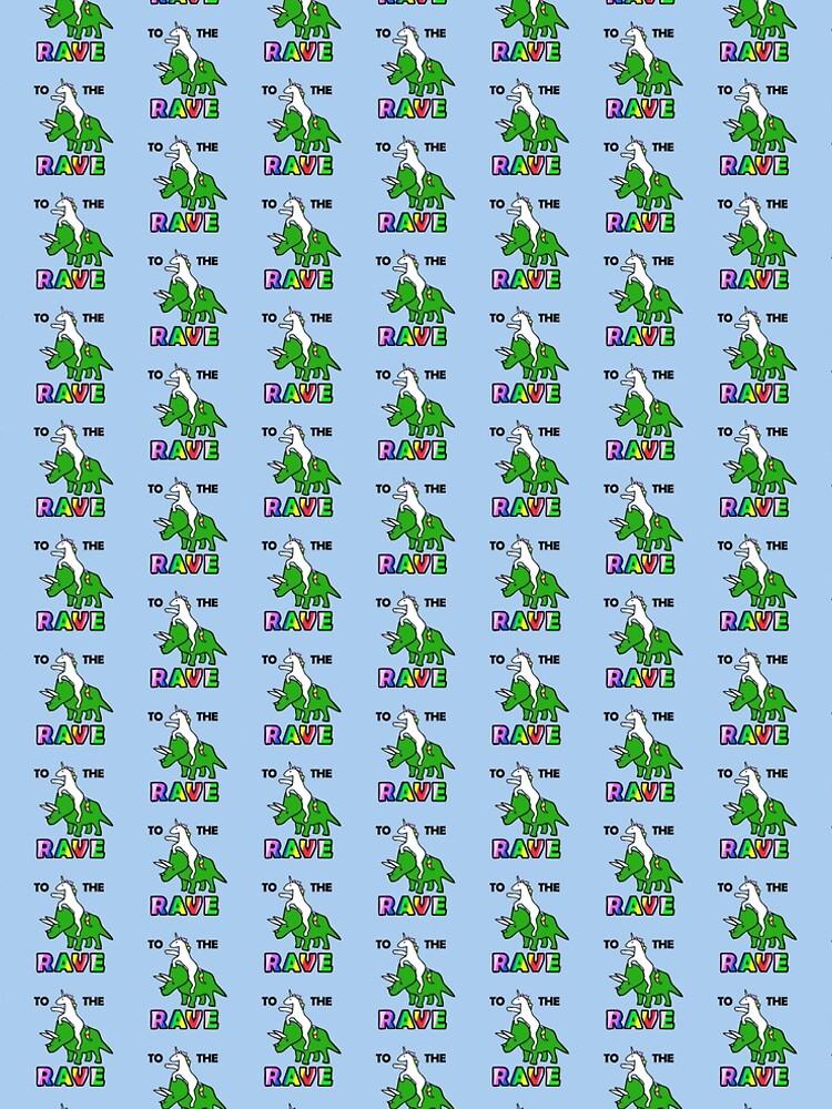 Para el delirio (Unicornio montando Triceratops) de jezkemp