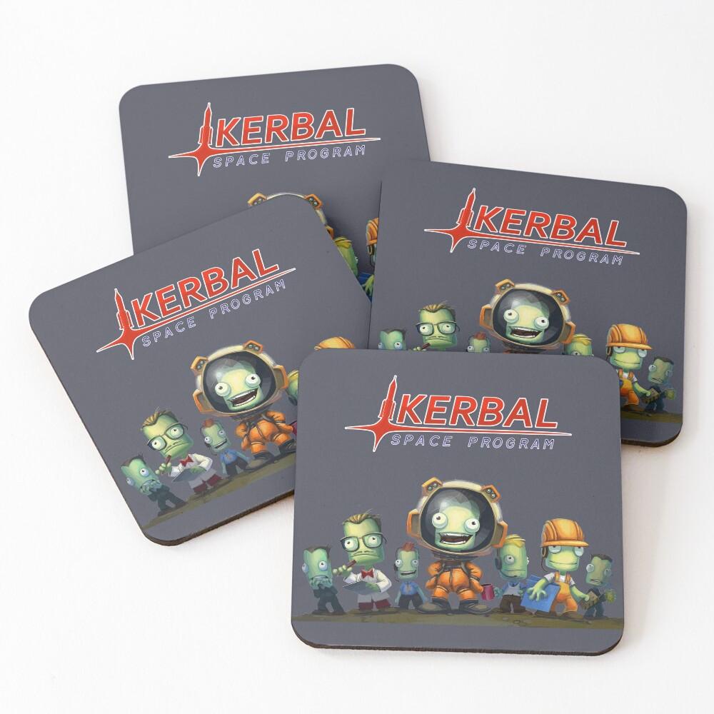 Kerbal Space Program KSP Team Coasters (Set of 4)
