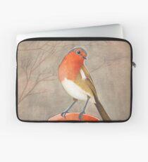 coffee loving robin bird Laptop Sleeve