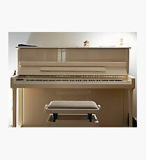 White piano at home Photographic Print