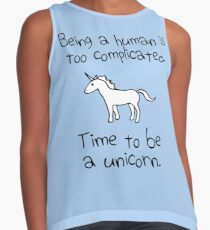 Time To Be A Unicorn Contrast Tank