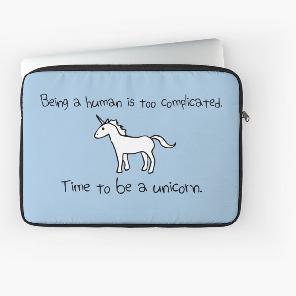 Time To Be A Unicorn Laptop Sleeve
