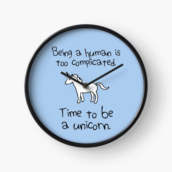 Time To Be A Unicorn Clock