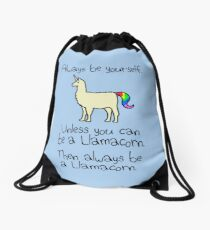 Always Be Yourself, Unless You Can Be A Llamacorn Drawstring Bag