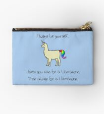 Always Be Yourself, Unless You Can Be A Llamacorn Zipper Pouch