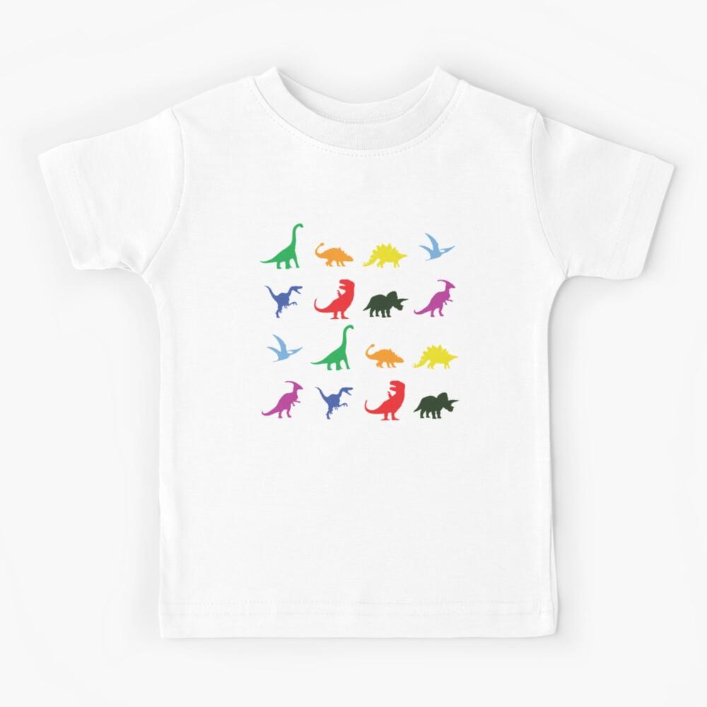 Fun Dinosaur Pattern Kids T-Shirt
