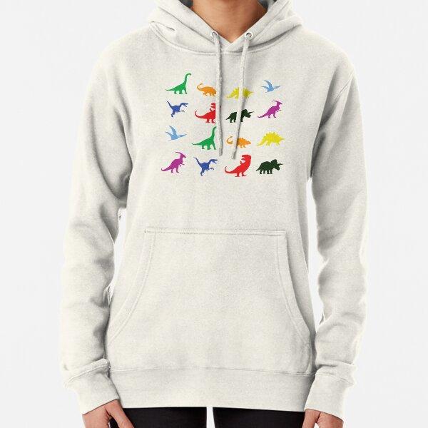 Fun Dinosaur Pattern Pullover Hoodie