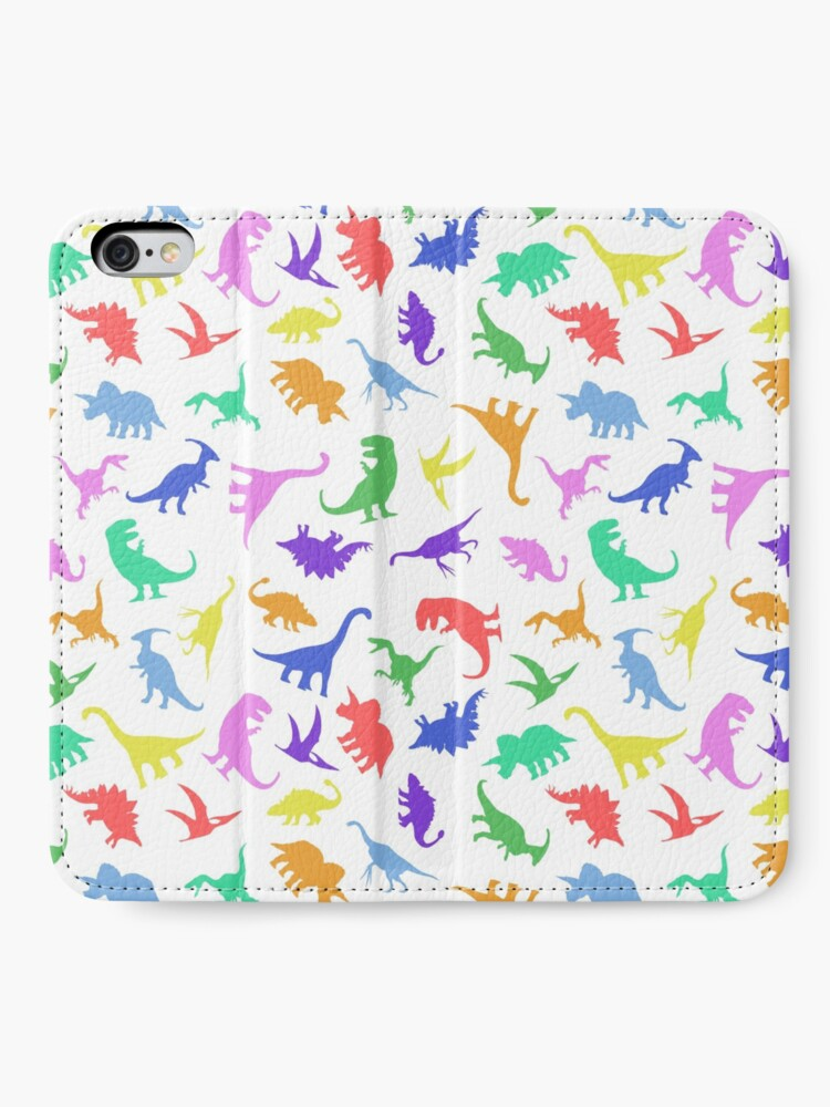 Alternative Ansicht von Spaß-Dinosaurier-Muster iPhone Flip-Case