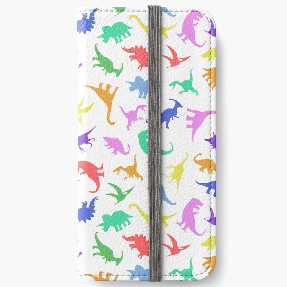 Patrón divertido dinosaurio Fundas tarjetero para iPhone