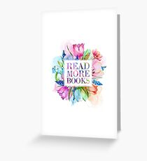 Read More Books Pastel Greeting Card