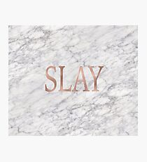 Slay rose gold marble Photographic Print