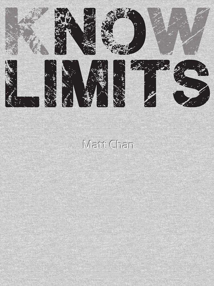 Know No Limits (black print) by mchanfitness