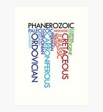 Phanerozoic aeons, eras, ages Art Print