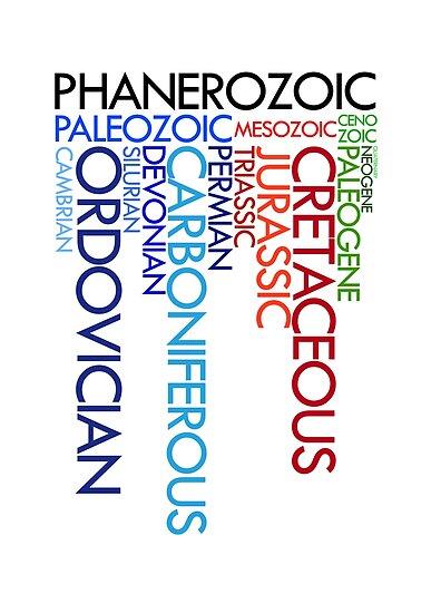 Phanerozoic aeons, eras, ages by jezkemp
