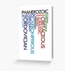 Phanerozoic aeons, eras, ages Greeting Card