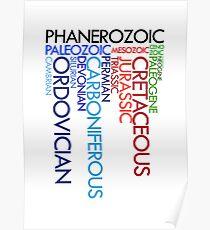 Phanerozoic aeons, eras, ages Poster