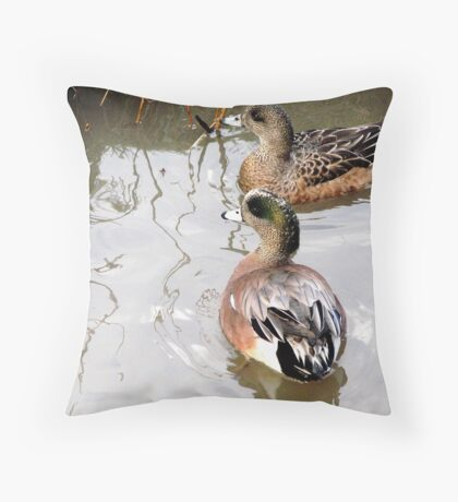 Birds & Bees Discussion Throw Pillow