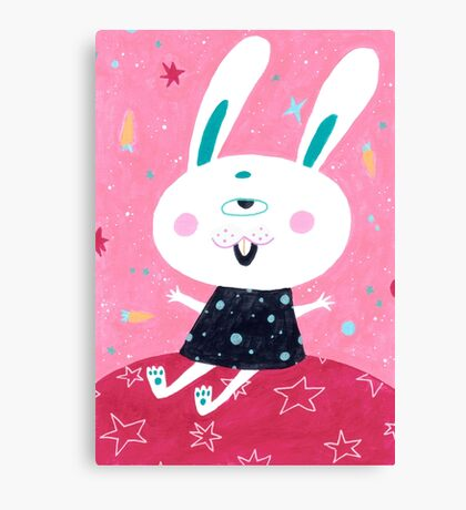 Bunny from mars Canvas Print