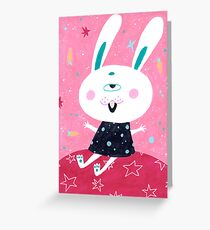 Bunny from mars Greeting Card