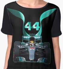 Lewis Hamilton and 2017 f1 car Chiffon Top