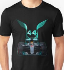 Lewis Hamilton and 2017 f1 car Unisex T-Shirt