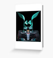 Lewis Hamilton and 2017 f1 car Greeting Card
