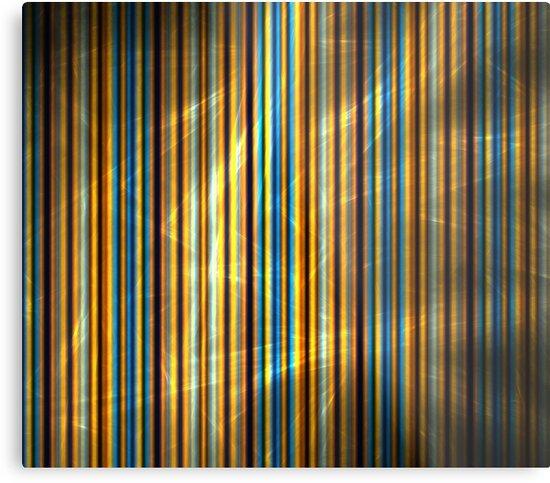 Orange Blue Stripes by KimSyOk