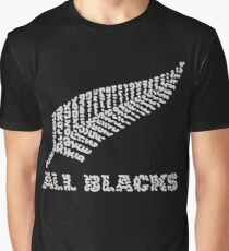 "The Rugby Team ""All Blacks"" of New Zealand  Graphic T-Shirt"
