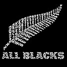 """The Rugby Team """"All Blacks"""" of New Zealand  by Karotene"""