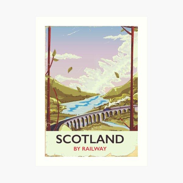 Scotland Vintage locomotive travel poster Art Print