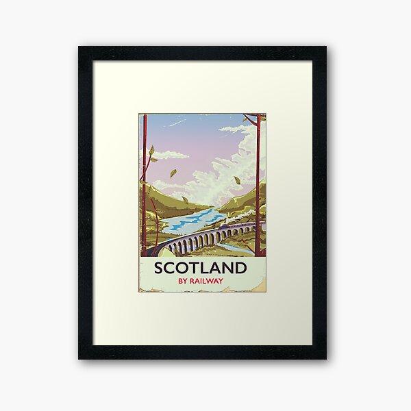 Scotland Vintage locomotive travel poster Framed Art Print