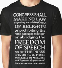 FREEDOM OF SPEECH FIRST AMENDMENT Graphic T-Shirt