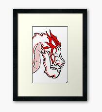 Dragon-Head Framed Print