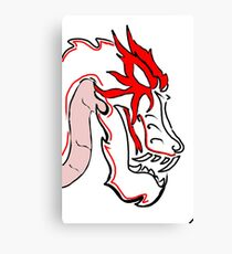 Dragon-Head Canvas Print
