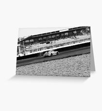 Porsche Black and White Greeting Card