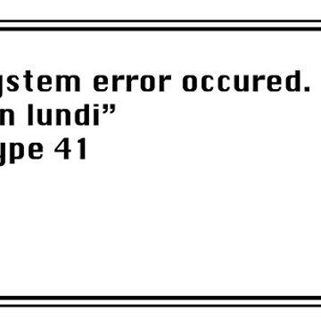 System error by irideocrea