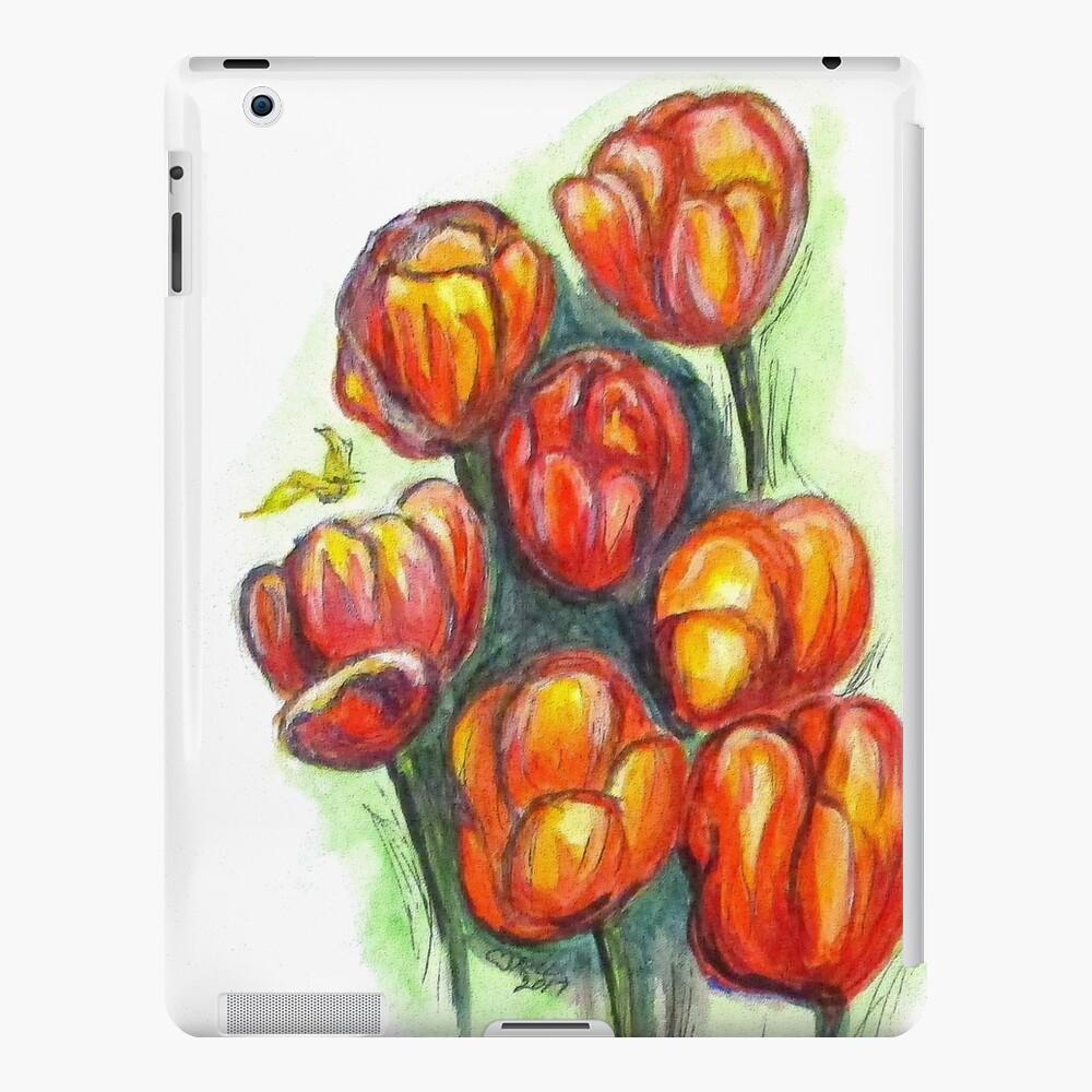 Spring Tulips Digital Enhanced iPad Case & Skin