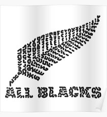 "The Rugby Team ""All Blacks"" of New Zealand Poster"