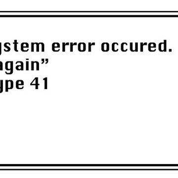 "System error ""Monday again"" by irideocrea"