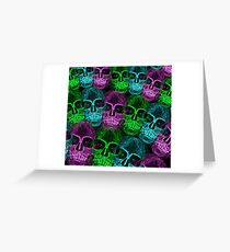 Neon death Greeting Card