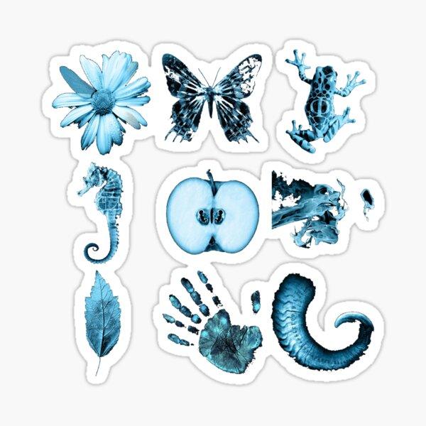 All nine glyphs of Fringe Sticker